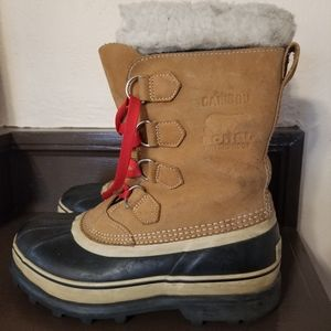 Sorel Caribou waterproof tan snow boot
